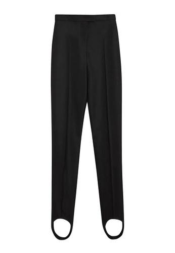 Burberry black Burberry high-waist jodhpur Trousers in Black,White 19CFEAA0024262GS_1