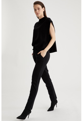 DeFacto black Low Waist Trousers E89FAAA5664061GS_1