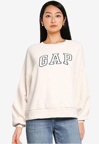GAP beige Brand Logo Sweatshirt 86EDBAAB3948E2GS_1