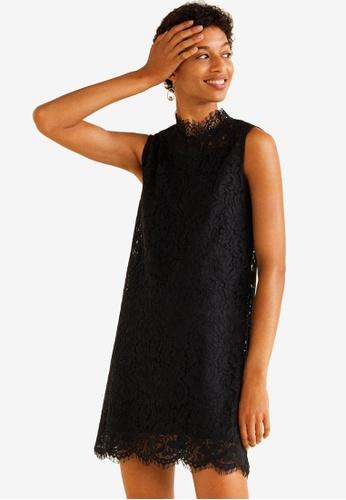 Mango black Lace Dress 646EBAAA162B88GS_1