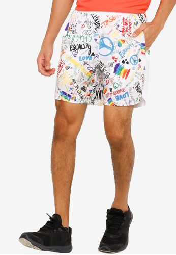 Under Armour white UA Launch SW 7'' Pride Shorts 50F89AA49D508EGS_1