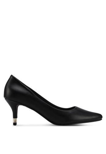 VINCCI black Pointed Toe Pump Heels FC3CESH0F3AA83GS_1