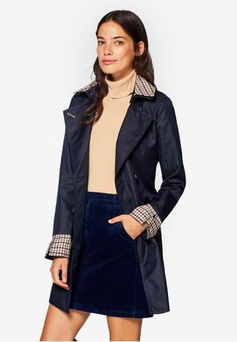 ESPRIT navy Woven Short Coat 9230FAABF01A61GS_1
