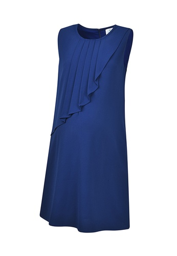 Bove by Spring Maternity blue Maternity Cory Sleeveless Pleated Dress 5B86DAADC91267GS_1