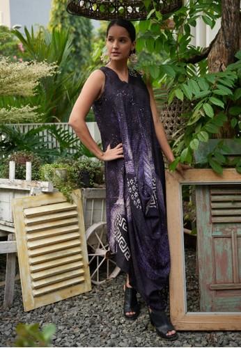 Rinjanie Avon black and purple RINJANIE AVON - DRESS KAIT 4 SISI MOTIF 5 BLACK PURPLE - VISCOSE PREMIUM - BATIK LUKIS B6917AAA4958D8GS_1