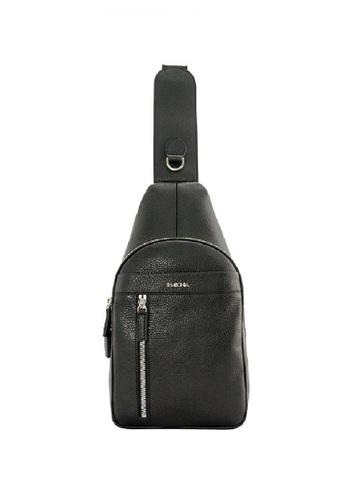 SEMBONIA black SEMBONIA Men Leather Crossbody Bag (Black) SE598AC0S84UMY_1