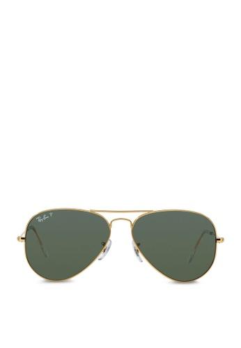 bed2b487c Ray-Ban yellow Aviator Large Metal RB3025 Polarized Sunglasses  RA370GL50RZXSG_1