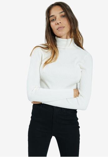 PIMKIE white Turtleneck Standard Sweater 69E1CAA0E4CC92GS_1