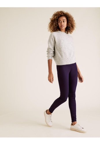 MARKS & SPENCER purple M&S High Waisted Jeggings 74765AA87C4820GS_1