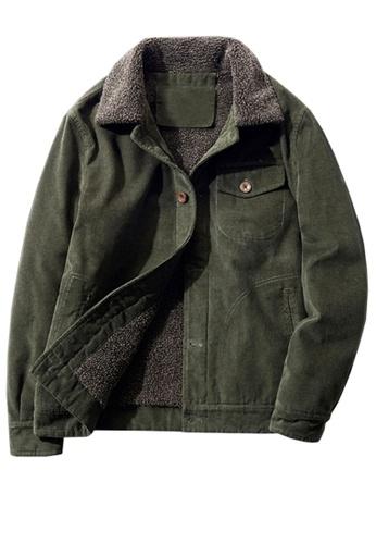 Twenty Eight Shoes green VANSA Fashionable Warm Corduroy Coat  VCM-C83866 32904AACF97392GS_1
