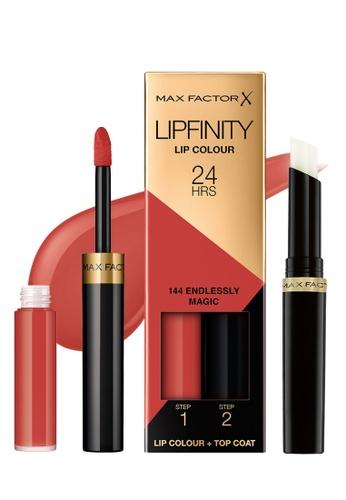 Max Factor red Max Factor Lipfinity Lipstick, 3.4 g, 144 Endlessly Magic FB3FEBEBBDF788GS_1