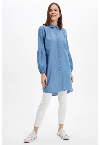 DeFacto blue Long Sleeve Tunic 720C0AADB42225GS_1