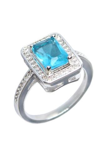 Elfi blue and silver Elfi Silver Blue Sapphire Ring R10 Silver EL186AC0RR6QMY_1