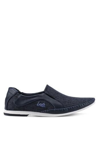 Louis Cuppers navy Slip-On Sneakers D3F37SH5640506GS_1