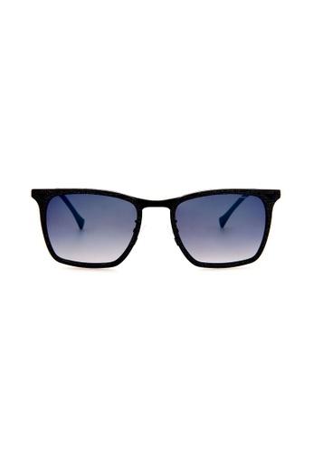 Police blue POLICE Impact 3 SPL154 AG2B Black/Blue Sunglasses PO706AC0RU2UMY_1