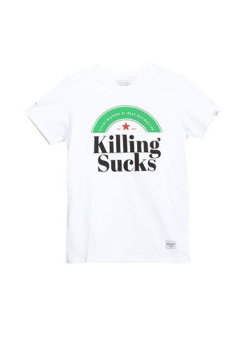 High Cultured white Killing Sucks Tee - 661 41096AAC25BC08GS_1