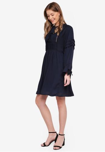 Y.A.S navy Sybil 3/4 Dress 83808AAABDAC6DGS_1
