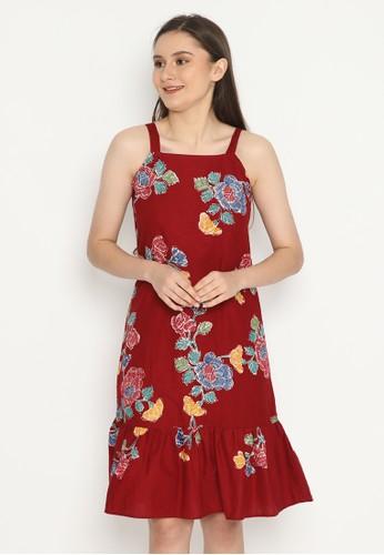 KICHI BATIK red Dress Batik Sukma 921ECAA21EE589GS_1