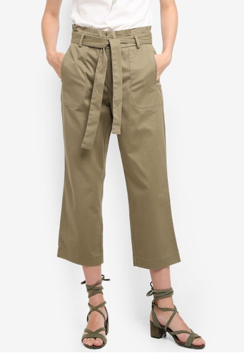 ESPRIT green Woven Cropped Pants A5BB7AA0512A51GS_1