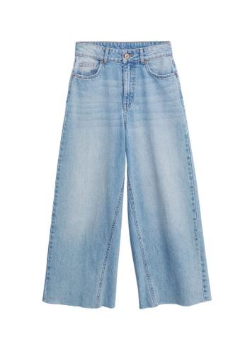 MANGO KIDS blue Frayed Hem Culotte Jeans F57B1KA5957C42GS_1