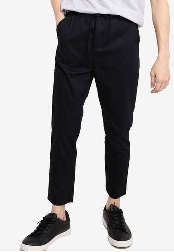ZALORA BASICS black Slim Jogger Pants 252BBAAE2FC9A8GS_1