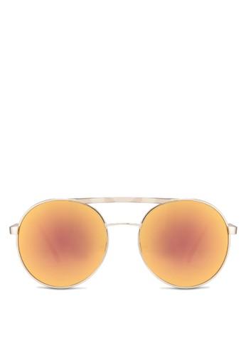 Milesprit 折扣es 雙鏡橋圓框飛行員太陽眼鏡, 飾品配件, 飾品配件