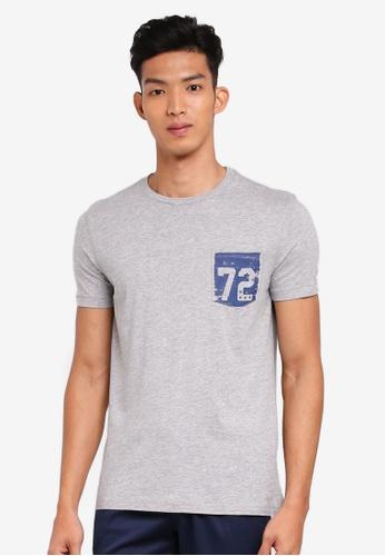 OVS 灰色 短袖印花T恤 F3F75AA073DAD1GS_1