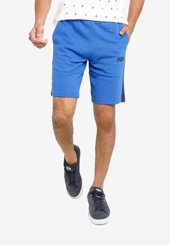 PUMA blue Contrast Sweat Shorts 4BA67AACF9C875GS_1