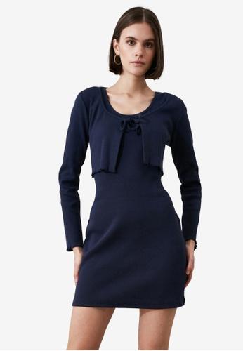 Trendyol navy Cardigan and Sleeveless Dress Sets C9AB1AAF7F4E8FGS_1