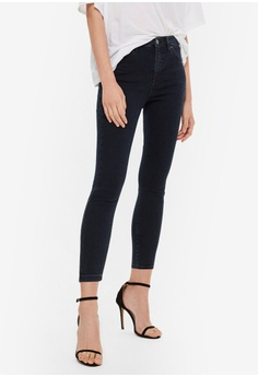 4b0acc7a348 TOPSHOP black and blue Petite Blue Black Jamie Jeans 537BDAA3B114B5GS 1