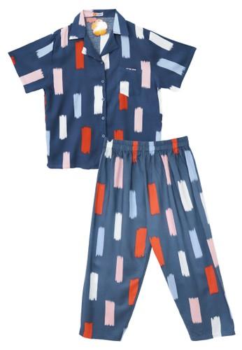 Tahlia grey Piyama Tie Dye Tahlia One Set Pyjamas E8D84AAC546F61GS_1
