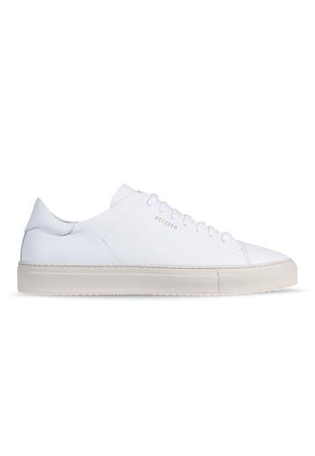 Axel Arigato Clean 90 白皮革搭配米色鞋底 FAC94SH902BAFFGS_1