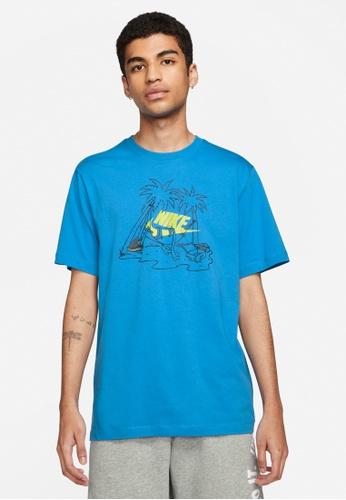 Nike blue Men's Sportswear Futura Tree Tee 87001AA574AE3FGS_1