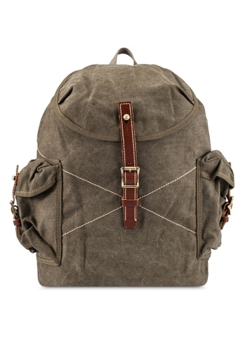 High Cultured green Canvas Backpack HI002AC0S1WEMY_1