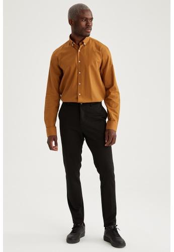 DeFacto brown Long Sleeve Cotton Shirt A56DCAAB28636DGS_1