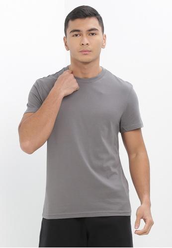 H&M grey Round-Neck T-Shirt Regular Fit A1886AA9BB67B9GS_1