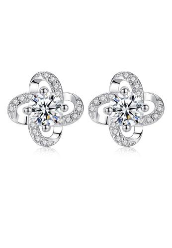 SUNRAIS silver High quality Silver S925 silver simple design earrings B21D1AC366F43CGS_1