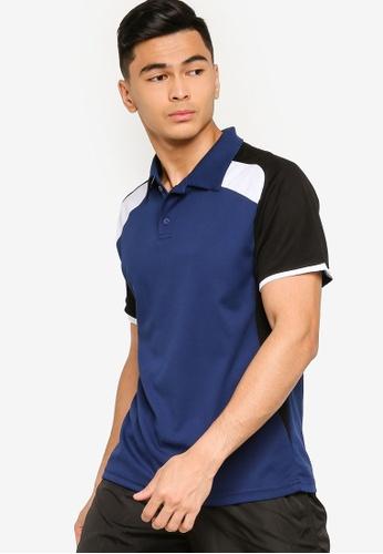 ZALORA ACTIVE multi and navy Active Colorblock Raglan Polo Shirt 193D6AA221E437GS_1