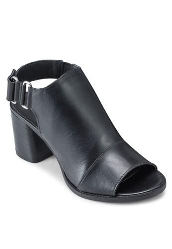 esprit outlet 台灣NIMI 露趾繞踝粗跟鞋, 女鞋, 鞋