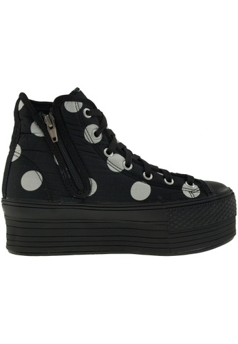 Maxstar black Maxstar Women's C50 7 Holes Zipper Platform Canvas High Top  Sneakers US Women Size MA164SH80PRFSG_1