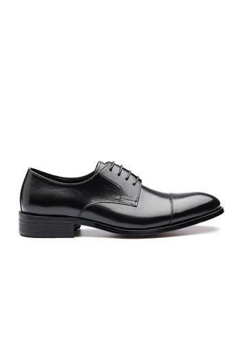 Kings Collection black Layton Cap Toe Derby Shoes 9726ASH5098E4FGS_1