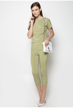 Checkered Top and Pants Set