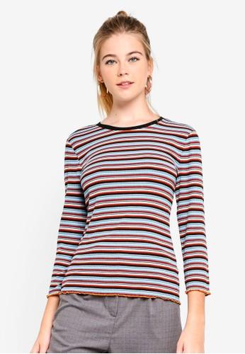 ESPRIT brown 3/4 Sleeve T-Shirt 3A3E4AAF90E7D5GS_1