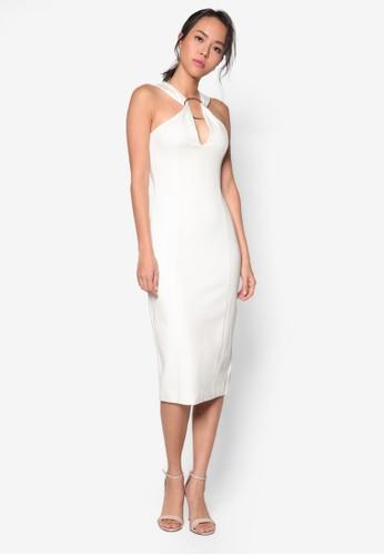扣環削肩V esprit 童裝領及膝連身裙, 服飾, 洋裝