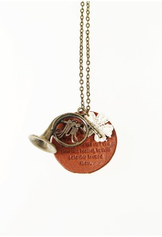 WLN015 Women's Necklace with French Horn Pendant