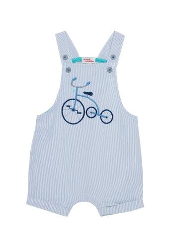 Du Pareil Au Même (DPAM) blue Tricycle Overalls C165DKA2DB5799GS_1