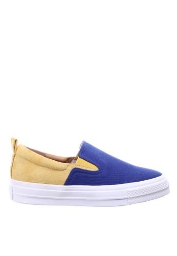 PRODUIT PARFAIT yellow Two tone Inner Heel Sneaker ACCAESH9239E1FGS_1