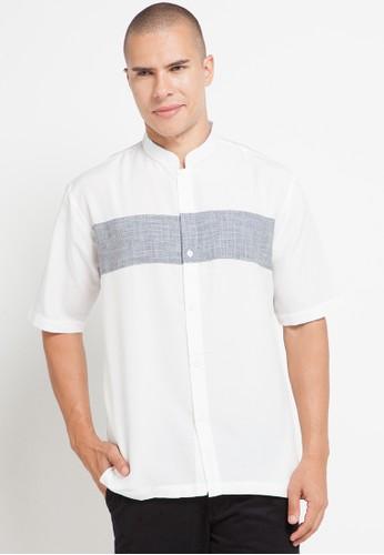Zavier black and beige Color Block Short Sleeve Koko 2417DAA757092AGS_1