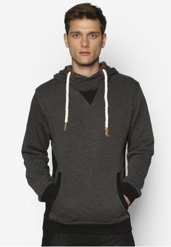 Calviesprit 眼鏡n 拼色連帽長袖衫, 服飾, 外套