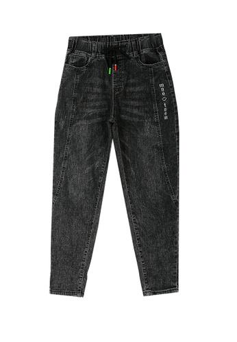 Its Me black Elastic Waist Black Jeans 3D070AA274D972GS_1